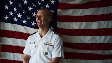 Testing the waters: Vice Admiral Joseph Aucoin.