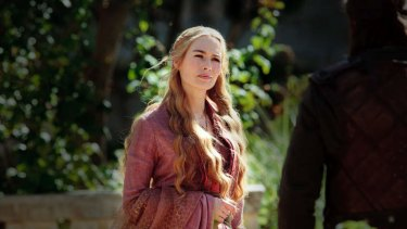 Not happy with brother Jaime ... Cersei Lannister keeps firing the withering looks in Episode 1 of Season 4.