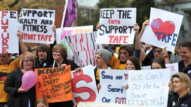 Young people in regional Australia could miss out on developing professional skills because of changes to TAFE funding.
