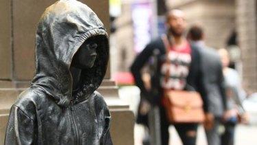 Mystery: Caroline Rothwell's sculpture has had an unauthorised addition.