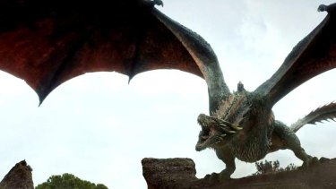 Game of Thrones finale ... Drogon at the Dragonpit summit.