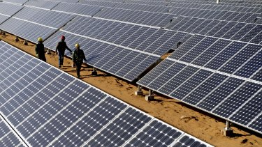 Large-scale solar is rapidly becoming competitive with wind energy.