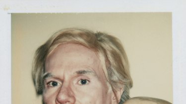 Andy Warhol Self-Portrait with Skull 1977, Polaroid Polacolor Type 108 photograph, 10.8 x 8.6 cm.