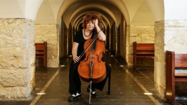 Cellist Rachel Scott at the crypt in St James Church.