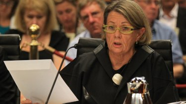 ICAC commissioner Megan  Latham at the parliamentary inquiry.