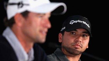 The Australian pairing ... Adam Scott and Jason Day.