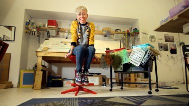 New Zealand artist Jess Johnson in her Fitzroy studio.