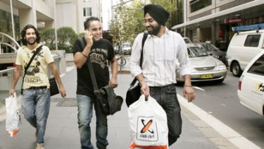 ''It cost me $24,000 just to look at the Harbour Bridge. It is totally money wasted''  ... cookery students Jessi Singh, 24, Ranjit Singh, 21, and Manbreet Singh, 24.