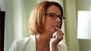 """""""It's a fight for women we must wage and we must win"""": Prime Minister Julia Gillard."""