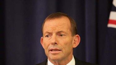 No shake up ... Tony Abbott.