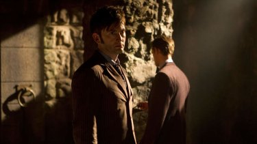 Doctors past: David Tennant and Matt Smith in Day of the Doctor.