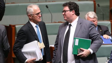 George Christensen with Prime Minister Malcolm Turnbull.