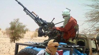 Islamists rebels of Ansar Dine near Timbuktu.
