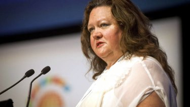 'Get out of the pub': ... Gina Rinehart.