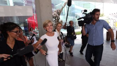 Foreign Minister Julie Bishop arrives at Canberra Airport on Sunday.