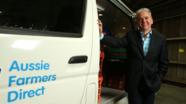 Hack attack: Aussie Farmers Direct home grocery delivery service chief Keith Louie.