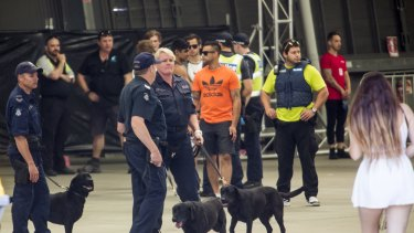 A large police and security presence at the Stereosonic Music Festival  on December 5 in Melbourne.