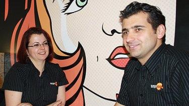 Burger Edge franchisors Enza and Issam Soubjaki.
