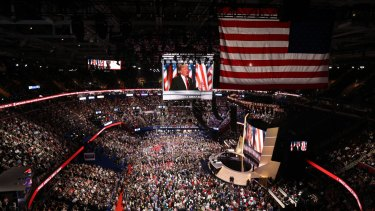 "This year's Republican National Convention in Cleveland, Ohio, saw Trump deliver an ""orchestrated hate-filled rally""."