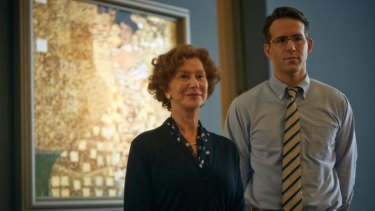 Helen Mirren and Ryan Reynolds in <i>Woman in Gold</i>.