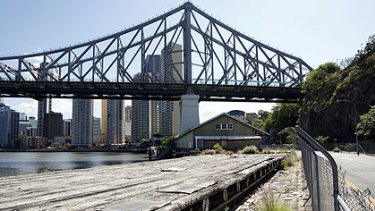 The Howard Smith Wharves have been left disused since the 1980s.