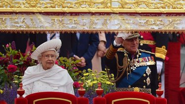 Royal couple ... the Queen, pictured with her husband, the  Duke of Edinburgh.