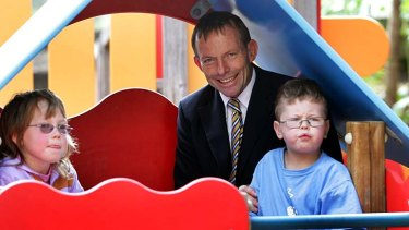 """Tony Abbott's has referred to his parental leave proposal as a """"signature"""" policy."""