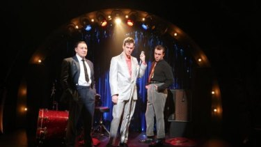Tony Martin, Jeremy Davidson and Ben O'Toole in Sydney Theatre Company's production of Jez Butterworth's Mojo.
