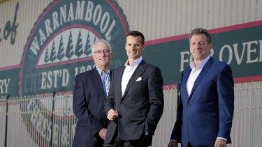 Move over Saputo ... Pictured: - l-r WCB Chairman Terry Richardson, Saputo CEO Lino Saputo Jnr and WCB CEO David Lord.