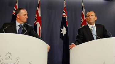 New Zealand Prime Minister John Key, pictured with Australian Prime Minister Tony Abbott, during a visit to Australia last month.