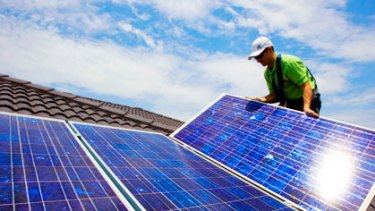 Solar panels ... the likely cost of the scheme to taxpayers is up to $1.75 billion, following the decision by the O'Farrell government to close it to new entrants this year.