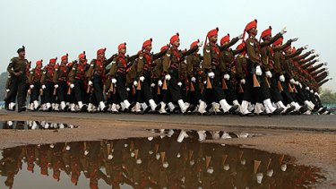 Astep up... a light regiment goes through its paces as India's military capacity swells.
