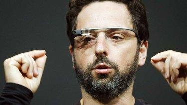 Google's Sergey Brin shows off Google Glass.