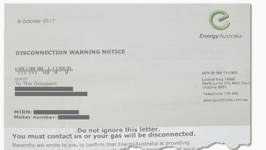In 2015 Nicky started receiving letters from Energy Australia addressed ''to the occupant''.