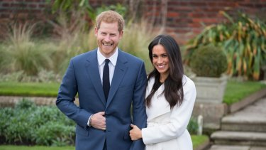Prince Harry and Meghan Markle after they announced their engagement. The pair are yet to send out invitations.