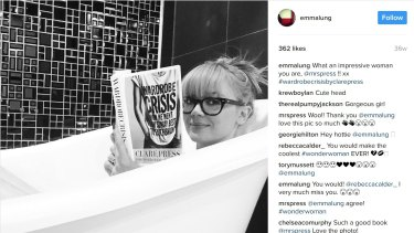 Emma Lung soaking in her Redfern bath pre robbery, from her Instagram.