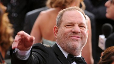 Harvey Weinstein arrives at the Oscars in 2015.