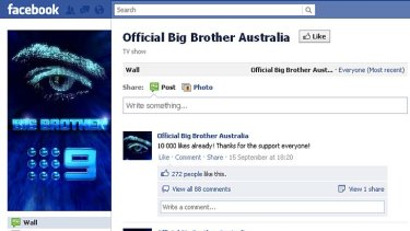 The Facebook page for Big Brother Australia.