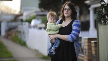 Rhiannon Modica and daughter Imogen will lose their Buckley Street home.
