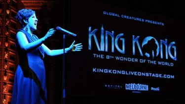 Queenie Van De Zandt at the launch of <i>King Kong</i>.
