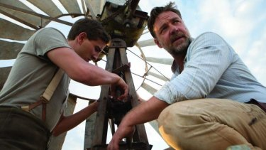 Russell Crowe and Art (Ryan Corr) in a movie that started out well.