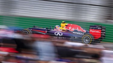 Heavy on the gas: Australia's Daniel Ricciardo.