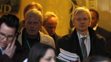 WikiLeaks founder Julian Assange has his eye on the Senate.