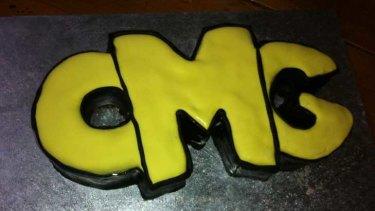 Striking icing ... An OMG (Oh My God) cake.