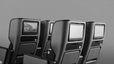 The premium economy seats Caon designed for Qantas's Perth-London direct flight.