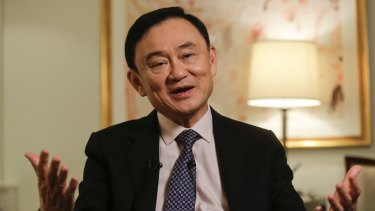 The exiled former prime minister Thaksin Shinawatra.
