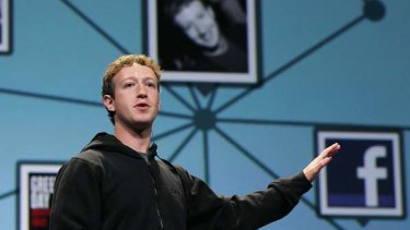 Facebook founder and CEO Mark Zuckerberg delivers the opening keynote address at the f8 Developer Conference.