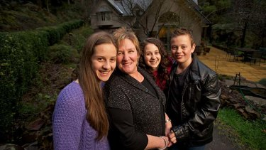Karen Boyd with her children (from left) Sarah, Rebecca and William, who were all donated embryos.