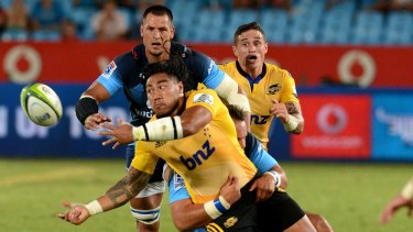 MELLOW YELLOW: Ma'a Nonu made two trademark offloads in his return for the Hurricanes against the Bulls in Pretoria.