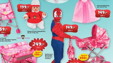 Gender-neutral ... Toy chain Leklust has shaken things up with its 2012 catalogue.